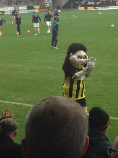Burton Albion mascot betty