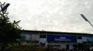 The Christmas Tree outside the Ostseestadion