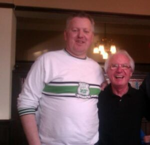 Andrew with Syd Little at Fleetwood
