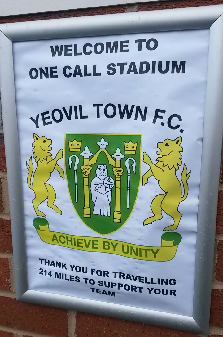Yeovil town away fans welcomed to mansfield