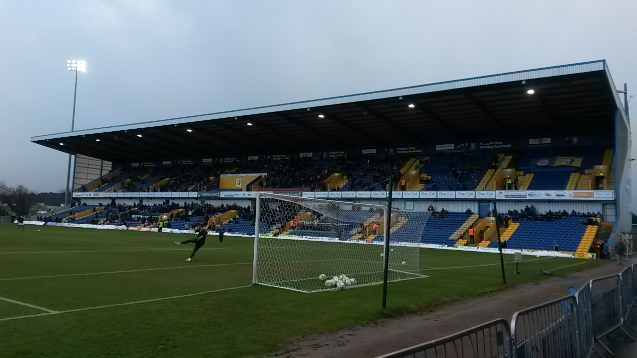 The Ian Greaves Stand at the One Call Stadium