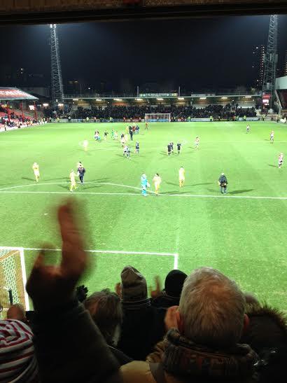 Griffin Park Brentford 1-3 Burnley in the Championship