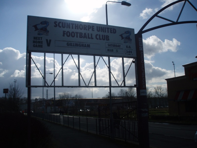 sign at scunthorpe united's ground glanford park