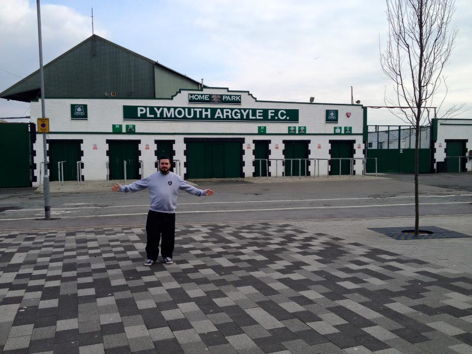 At Plymouth Argyle doing the 92