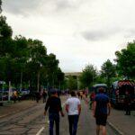 Outside the Stade Geoffroy-Guichard