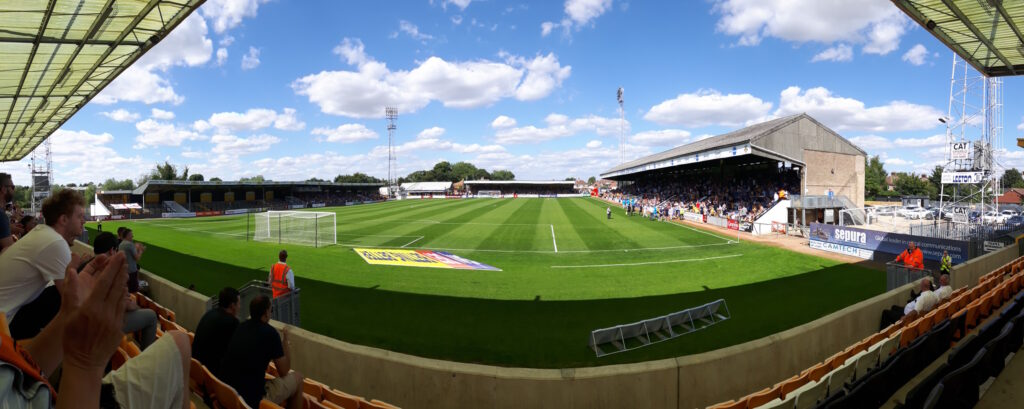 panoramic shot from the south stand at the abbey stadium cambridge