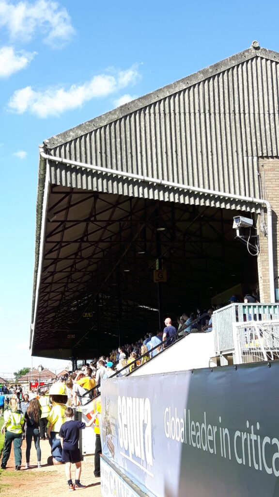 main stand at the abbey stadium