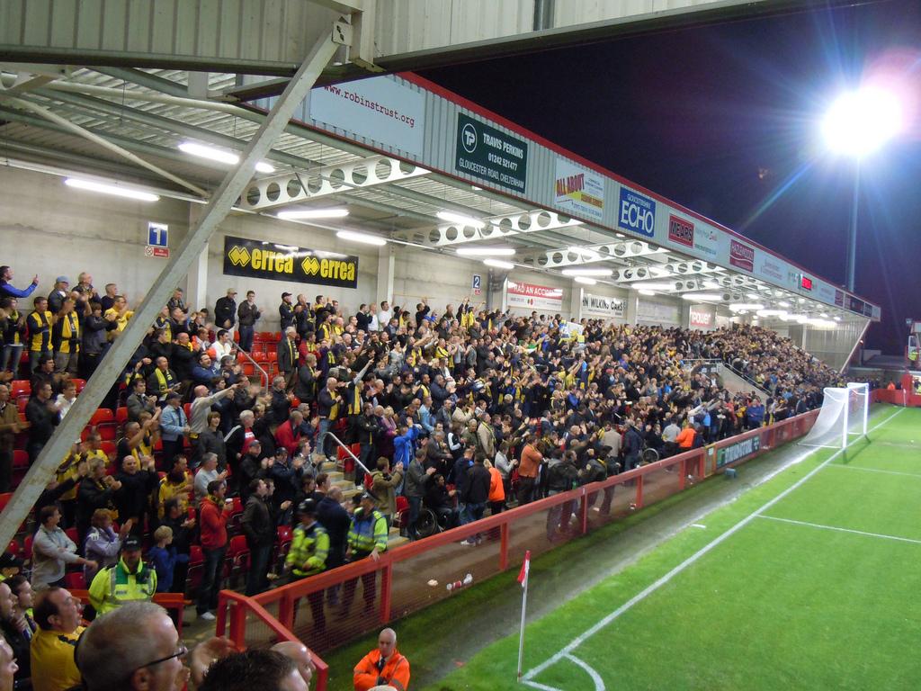 Cheltenham town fc world of smile stadium
