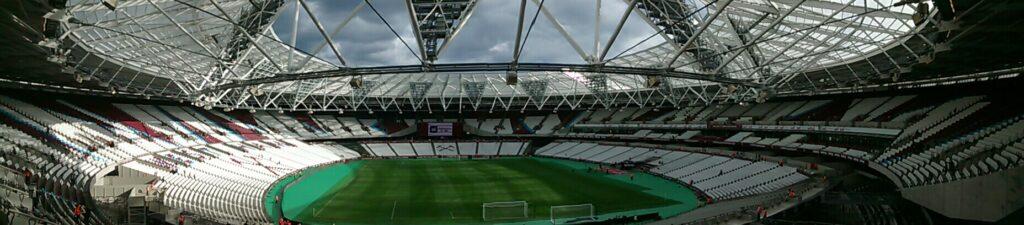 panoramic of the olympic stadium the now london stadium