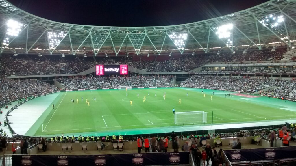 west ham play their first game at the london stadium in the europa league