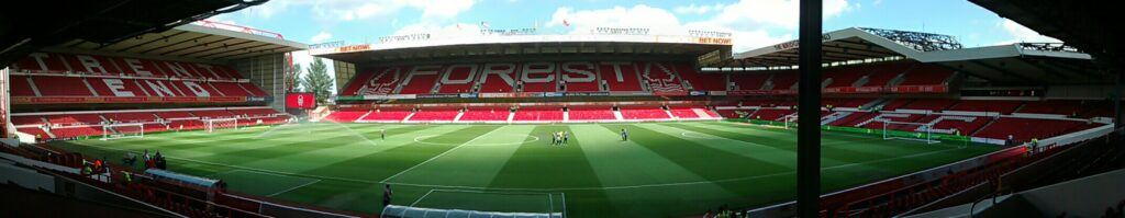 Panoramic of the City Ground Nottingham