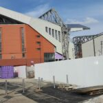 The new main stand at Anfield the home of Liverpool fc