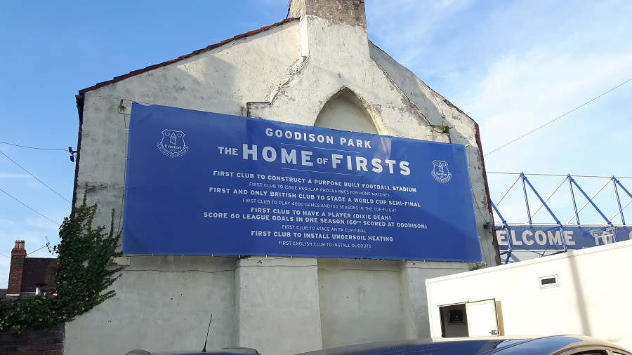 goodison park, the home of firsts