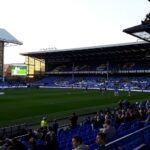 view towards the Howard Kendall Gwladys Street End at goodison park
