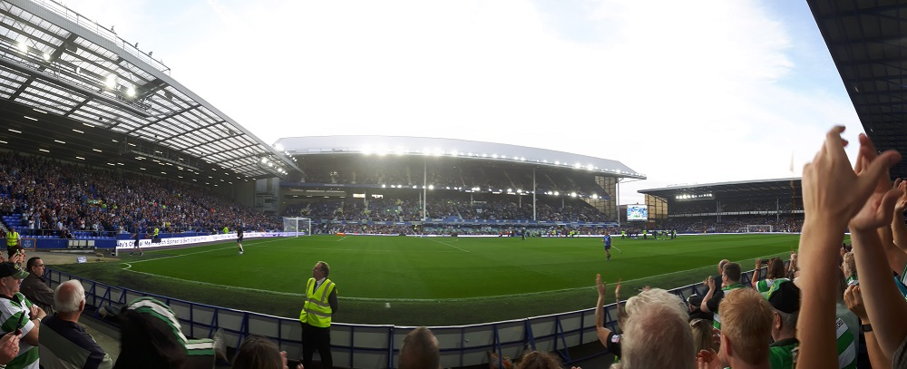 Panoramic from the away end at goodison park