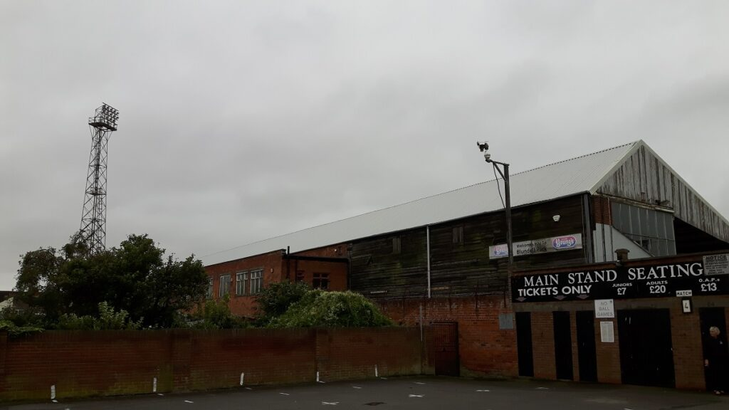 The Main Stand Blundell Park