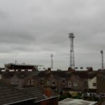Blundell Park taken from the nearby Railway Bridge