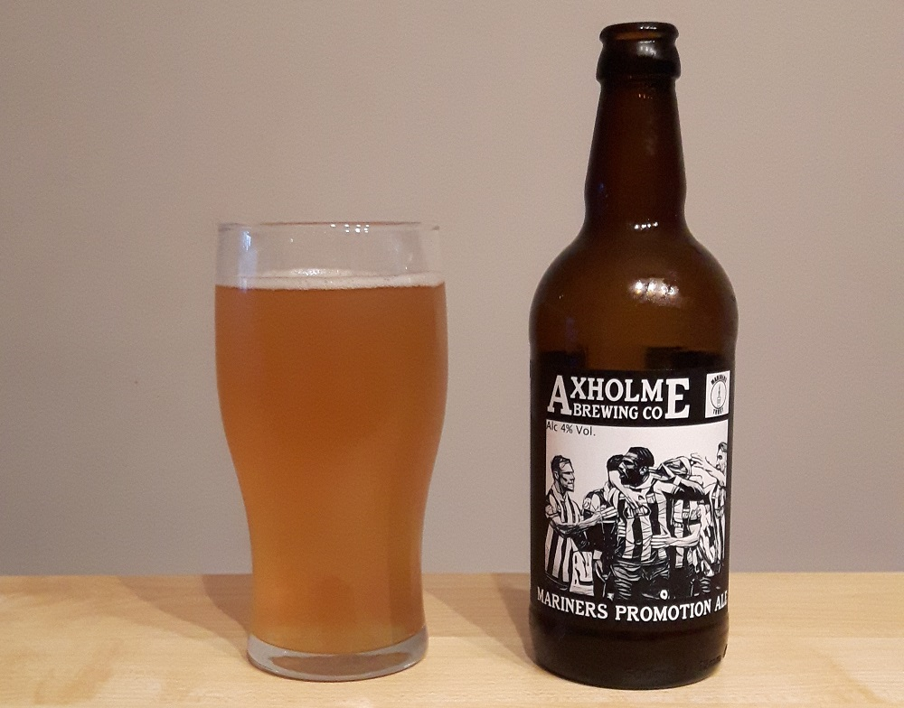 Mariners Promotion Ale, from Message in a Bottle, a specialist bottled beer shop in the heart of Cleethorpes