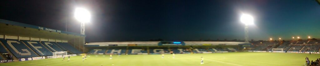 panoramic of the priestfield stadium gillingham