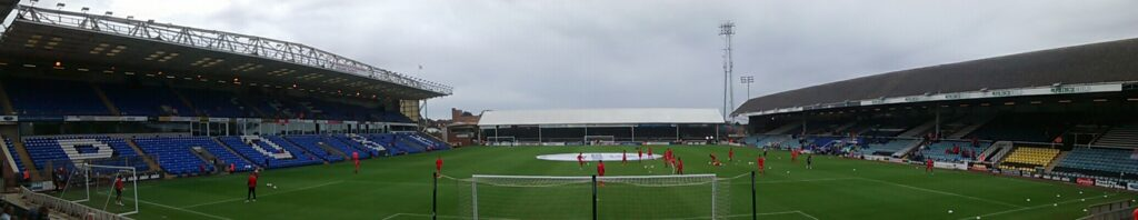 panoramic of the abax stadium , london road, the home of Peterborough United