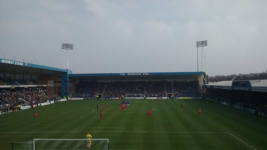 Gillingham v Oldham at the Priestfield Stadium, October 2015