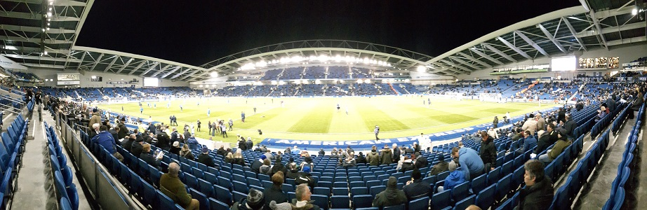 Panoramic photo of the Amex Stadium the home of Brighton and Hove Albion