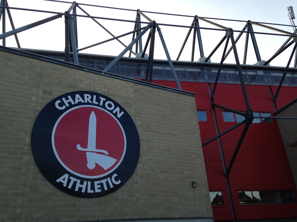 Charlton crest out the Valley, the stadium of the Addicts