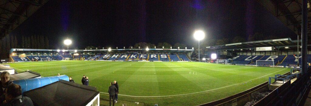 Panoramic photo of Gigg lane the home of Bury Football Club