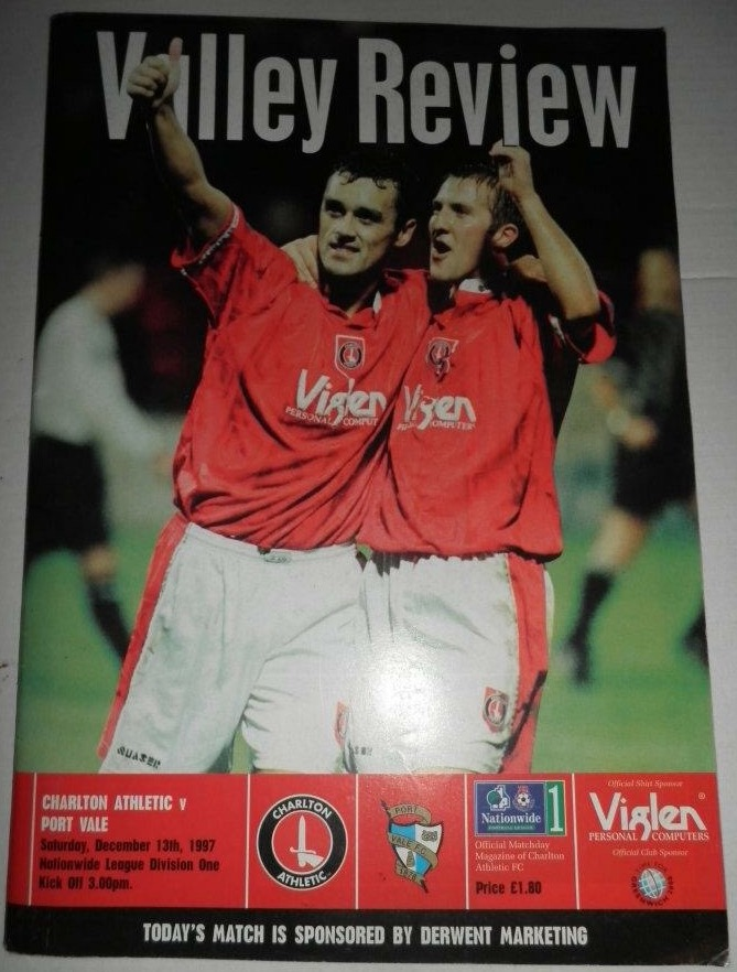 Mendonca & Robinson: This programme was the sole memento from my first Valley visit in '97.