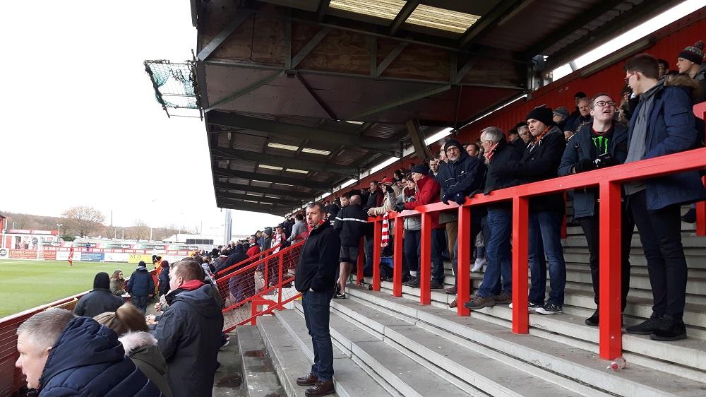 East Terrace at the Lamex Stadium (Broadhall Way) Stevenage