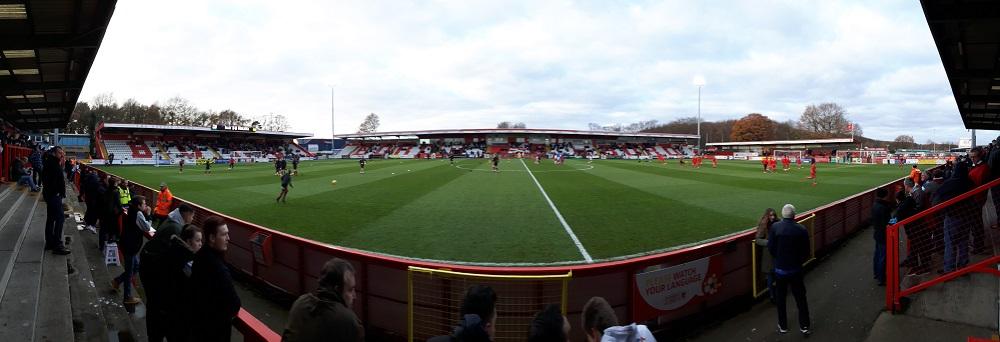 Panoramic of the Lamex Stadium Stevenage