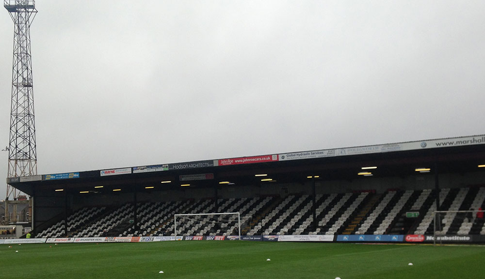 Blundell Park, Cleethorpes, the home of Grimsby Town