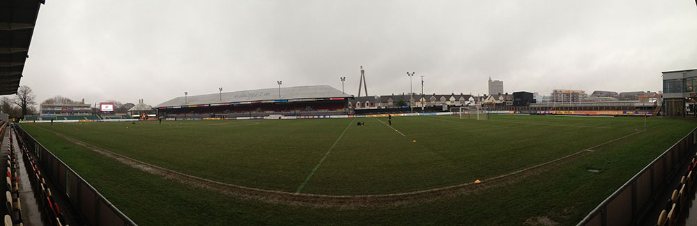 Rodney Parade the home of Newport County FC