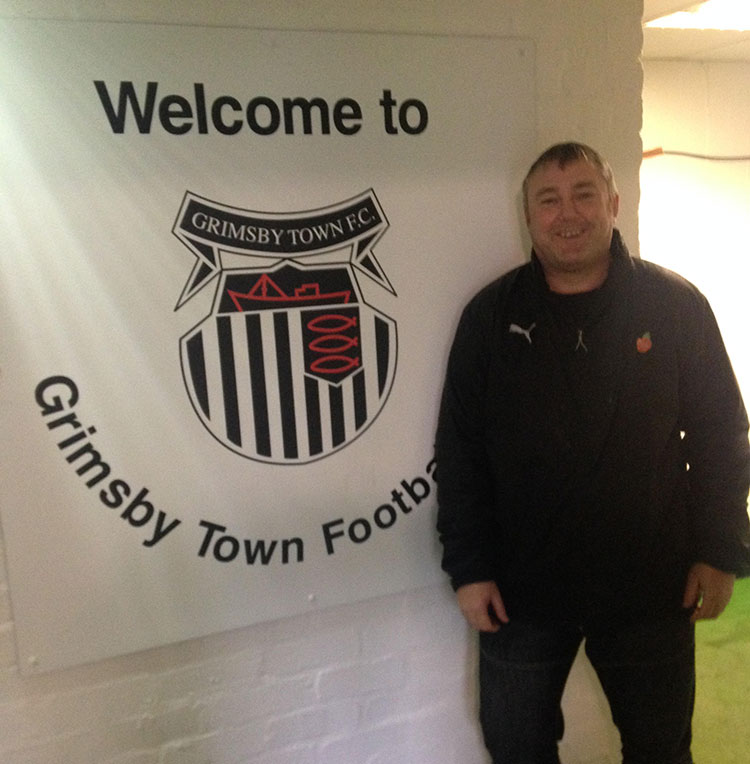 Colin Harrison ticks off Blundell Park doing the 92 league grounds