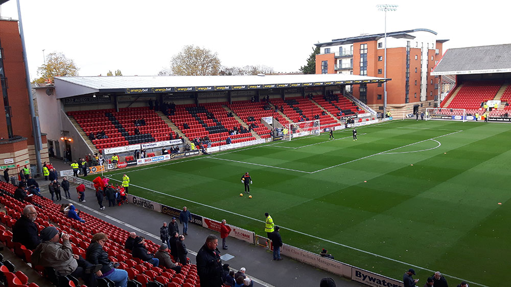 North stand brisbane road, home of Leyton Orient