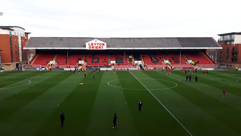 The East Stand at Brisbane Road, which was once part of the Mitcham Greyhound Stadium