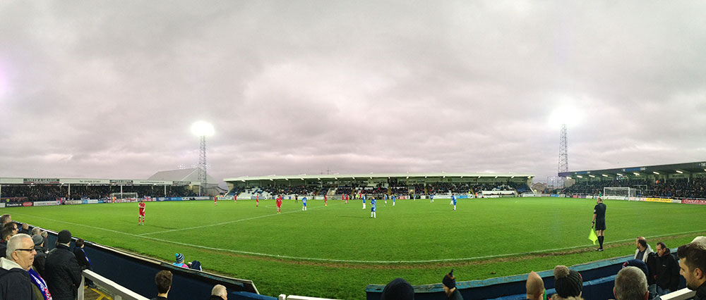 panoramic photo of victoria park the ground of hartlepool united