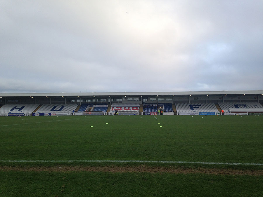 stand at victoria park the home of hartlepool united