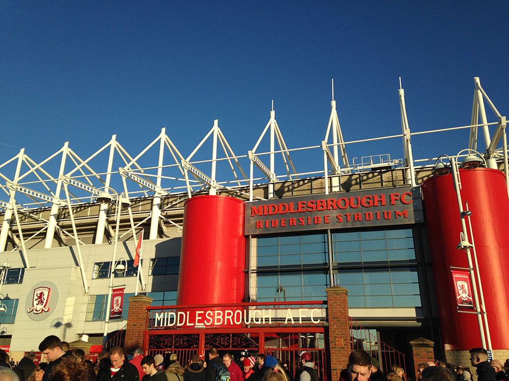 ayresome park gates at the riverside stadium middlesbrough