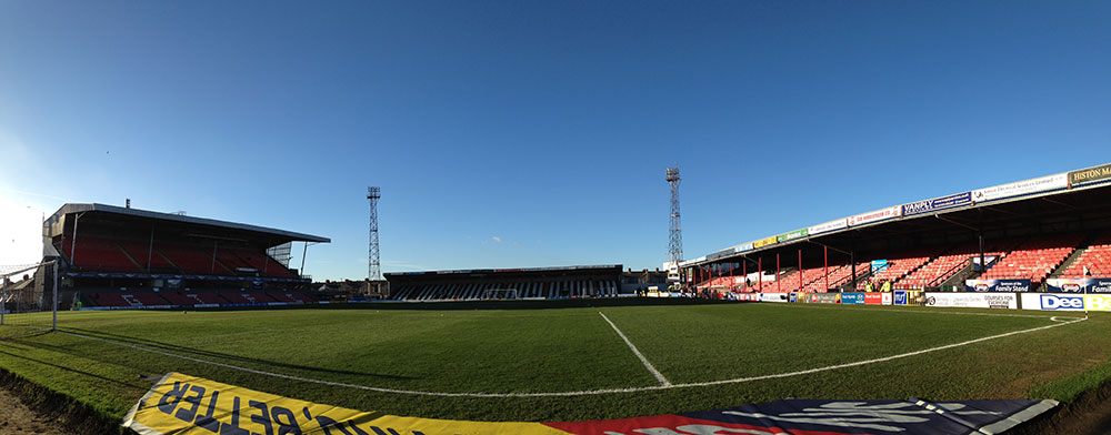Panoramic from the away end at Blundell Park