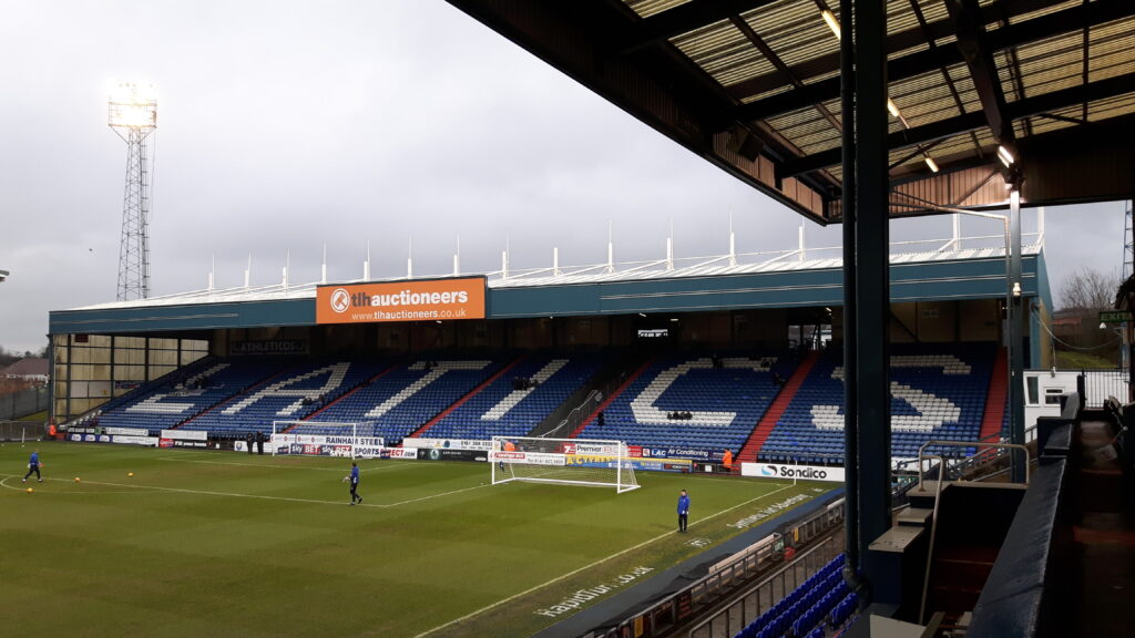 The Rochdale Road End Boundary Park Oldham