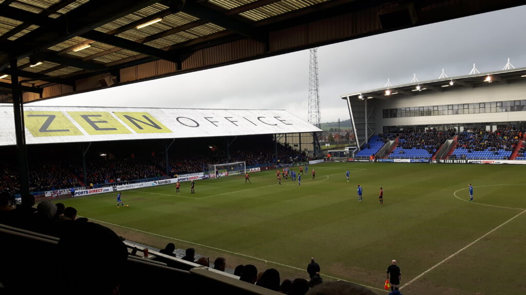 Oldham Athletic v Bradford City in League 1