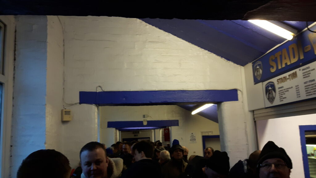 Bar in the Main Stand at Boundary Park