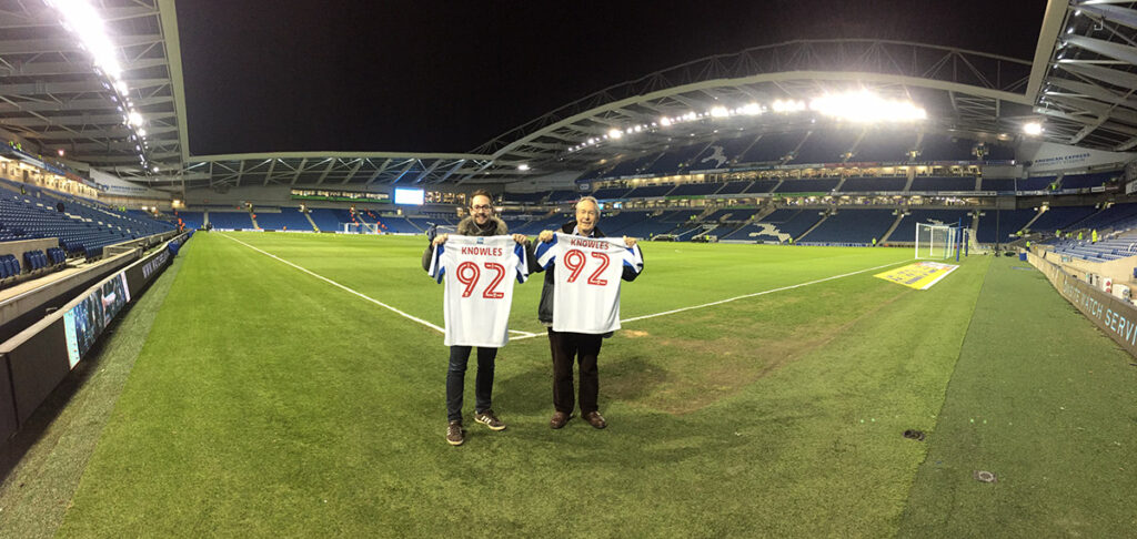 Completing the 92 at the Amex Stadium