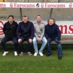 In the dugout at the Memorial Stadium