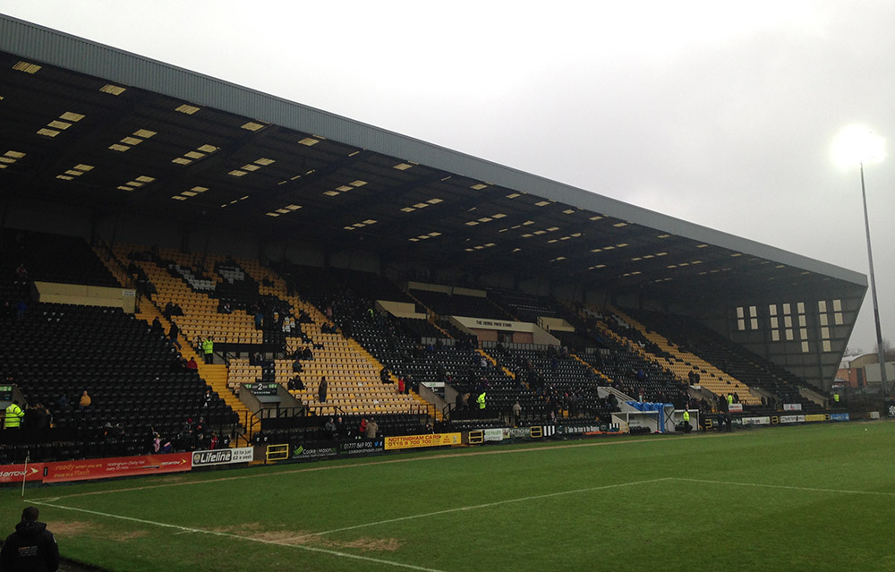 Meadow Lane the home of Notts County