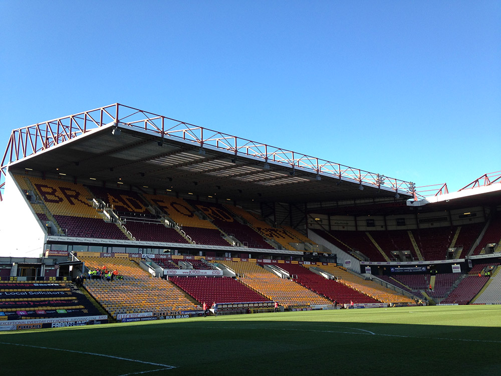Valley Parade in the sunshine