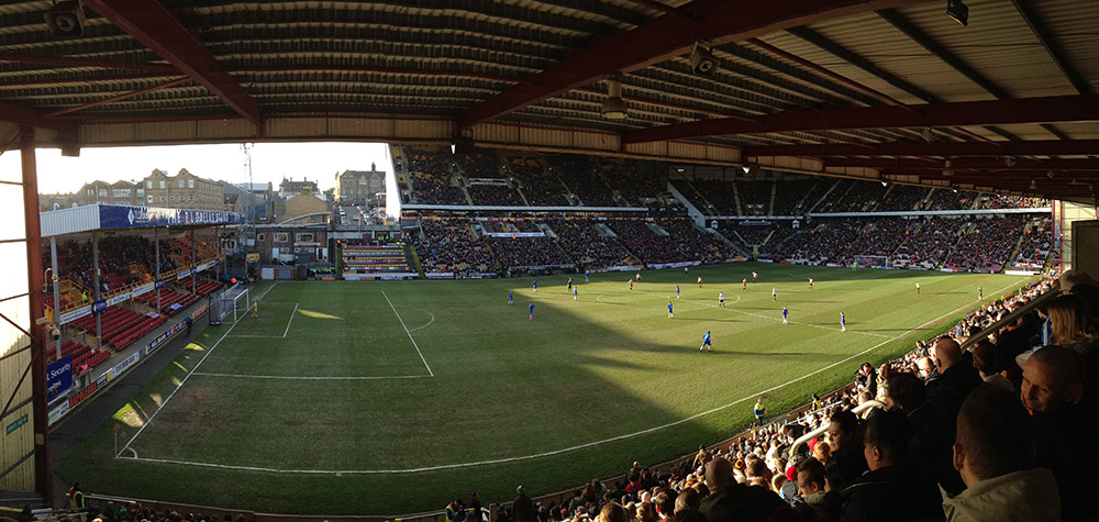 Bradford v Gillingham in league 1 at Valley Parade