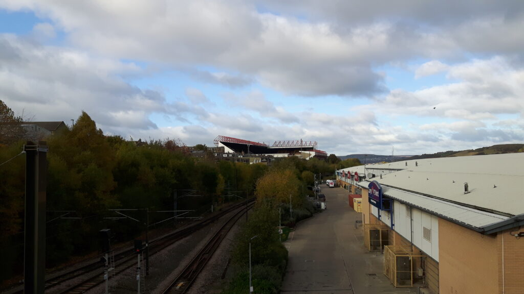 Valley Parade very visible across the city of Bradford!