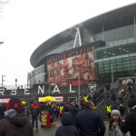 Outside the Emirates Stadium, Arsenal